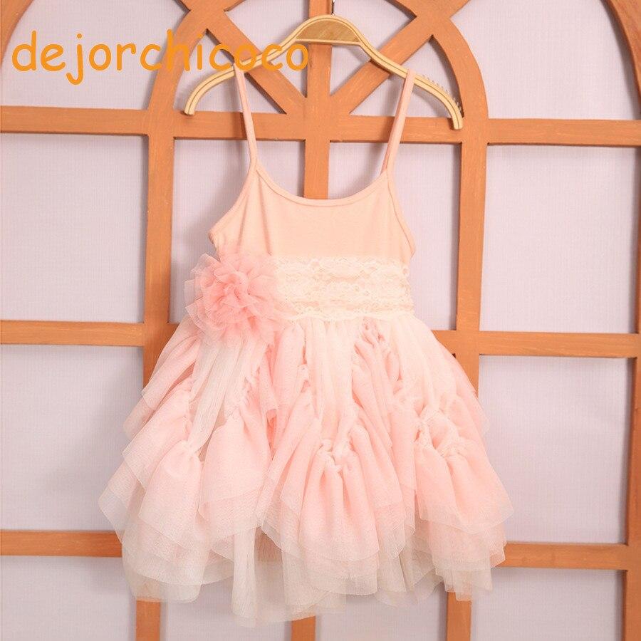 le neonate senza maniche estate abiti da ballo a strati tutu abito da - Vestiti per bambini