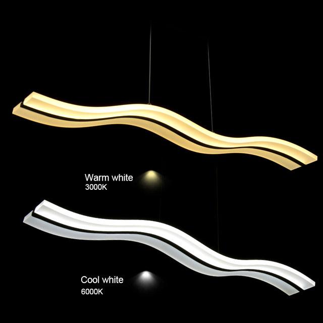 Online-Shop Moderne LED Pendelleuchten Leuchte Welle Acryl Lüster ...