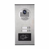 YobangSecurity Metal Aluminum Outdoor RFID Access Control Doorbell Camera For 2 Units Apartment Video Intercom Door