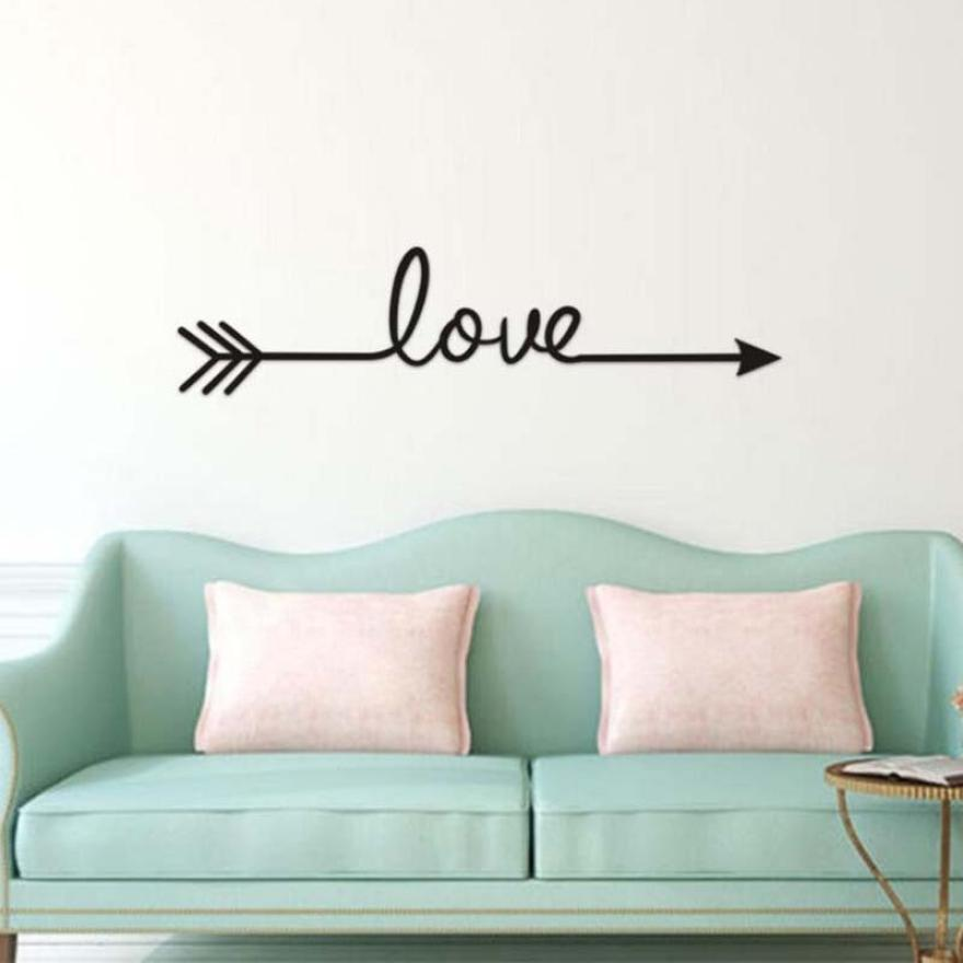 Home Decor Love Arrow Decal Living Room Bedroom Vinyl Carving Wall Decal Sticker for wall sticker Home Deco mirror JU23