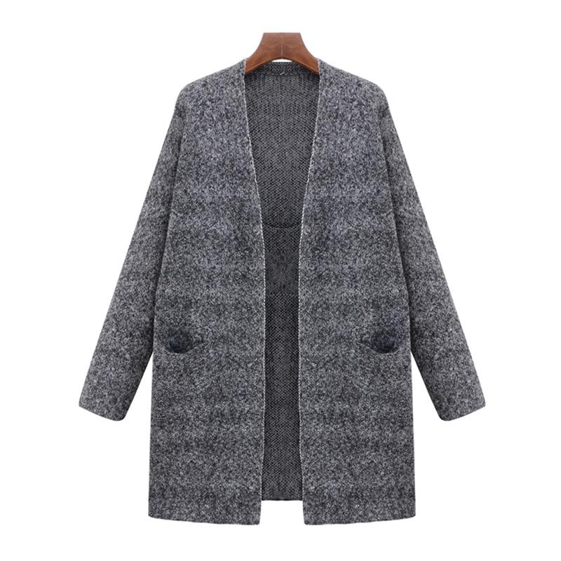 5XL Winter Lange Strickjacken Pullover Mantel für Frauen Neue Herbst ...