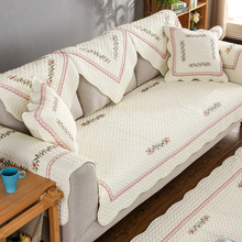 Sofa cushion fabric non-slip cushion, four seasons cotton sofa towel, winter European style simple cushion.