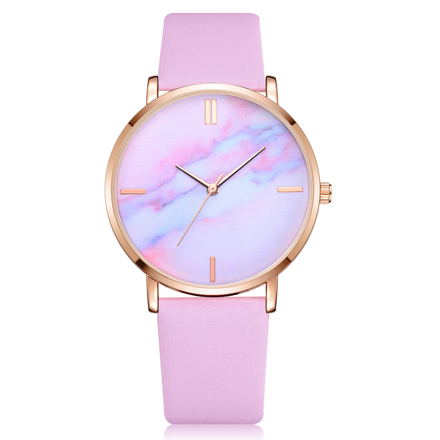 Womens Watch 2018 Fashion Ladies Colours Of The Rainbow Leather Band Analog Quartz Wrist Watch Clock Relogio Masculino Gifts