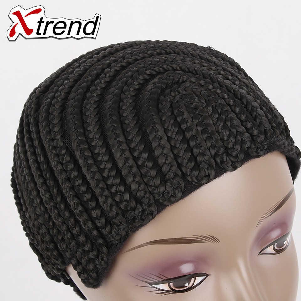 1-10 шт/lotCornrow парик Кепки для изготовления париков Регулируемый Черный Цвет крючком для плетения, ткачества Кепки кружево сетка для волос инструмент для укладки