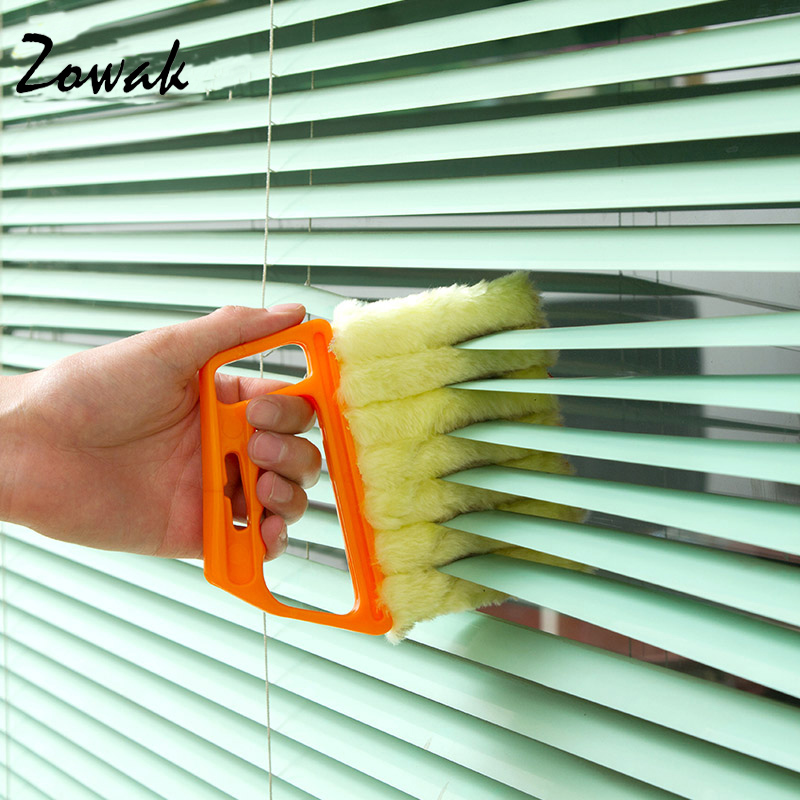 Mini Blind Cleaner Air Conditioner Duster Dirt Cleaner Brush Housework Tool Microfiber Windows Awnings Venetian Cleaning Shutter