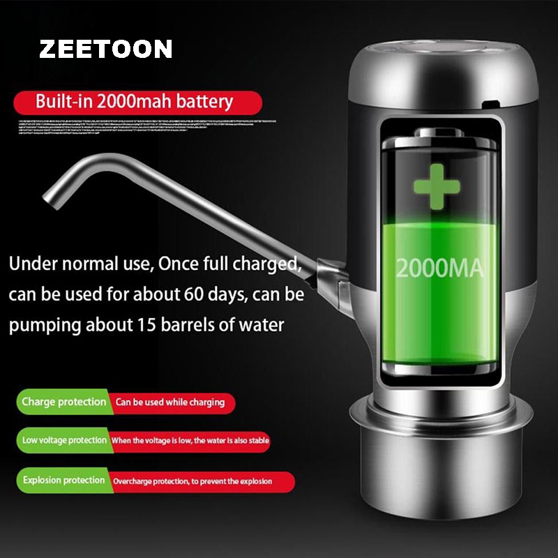 Portable Outdoor Smart Electric Magic Faucet Gallon Bottle Water Pump Dispenser Suction Faucet picnic Taps Drinkware Kitchenware