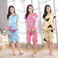 Calções pijama define desgaste casa roupas para mulheres verão 90 S pijamas das mulheres mais top sleepwear para meninas pijama treino