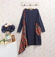 mori girl jurken patchwork harajuku hippie boho rockabilly vintage plaid roupa feminina mujer sequin fall winter
