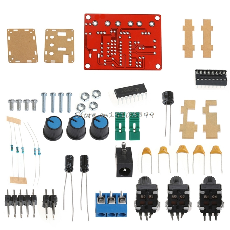 XR2206 Function Signal Generator DIY Kit Sine Triangle Square Wave 1HZ-1MHZ #G205M# Best Quality