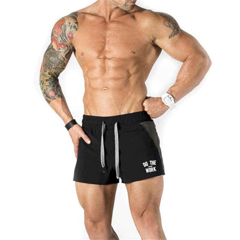 2019 Summer Mens Shorts Jogger Fitness Fashion Casual Gyms Workout Bodybuilding Breathable Quick-drying Beach Sweat Shorts