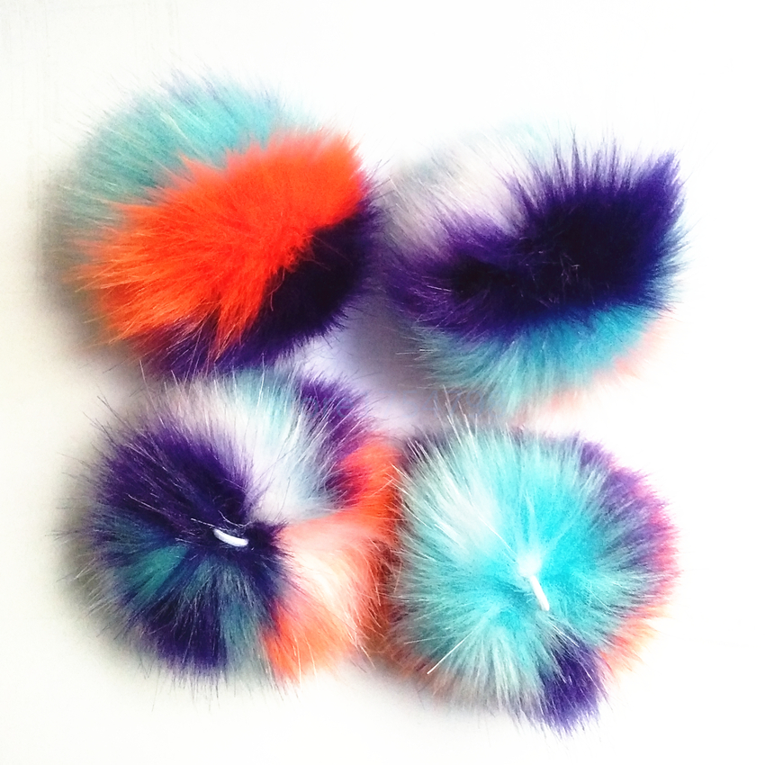 12 pcs lot New Fashion Cute Assorted Colors Faux fur Pompons Colorful Handmad Pompom Jewelry Accessories Pendant Bag Chain in Jewelry Findings Components from Jewelry Accessories