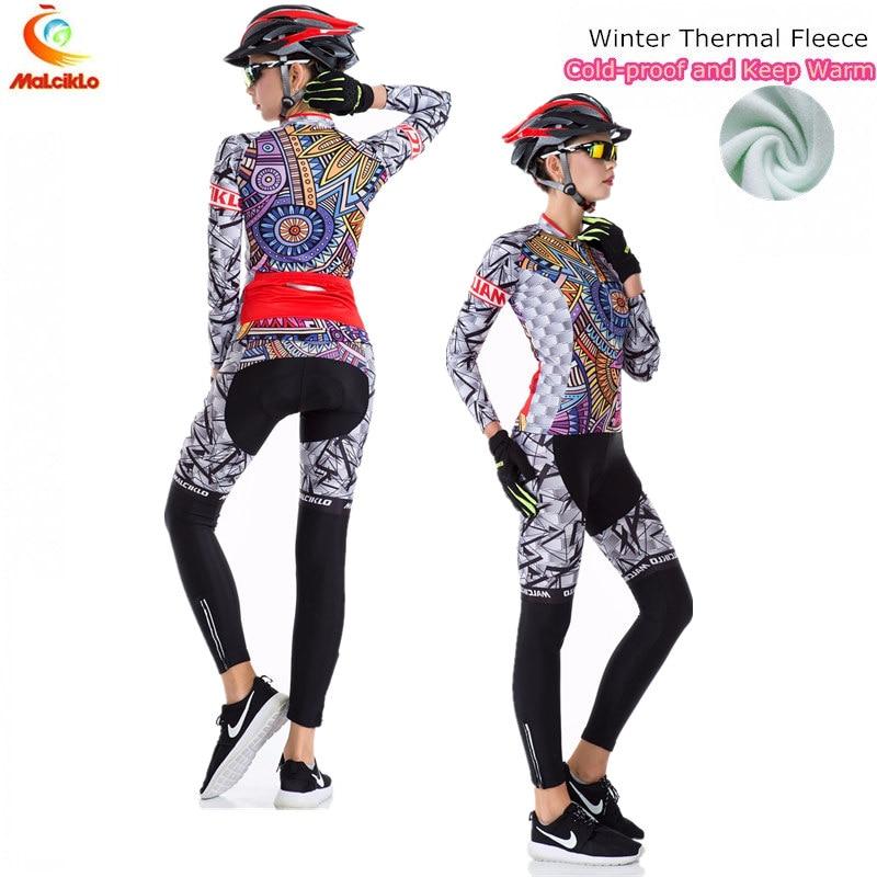 Pro Team Long Sleeve Cycling Jersey Women 2019 Ropa Ciclismo Mujer Winter Fleece Mountan Bike Wear