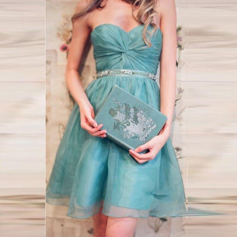 d74e1e7c4c Special Duck Egg Blue Bridesmaid Dress Sweetheart A line Organza ...