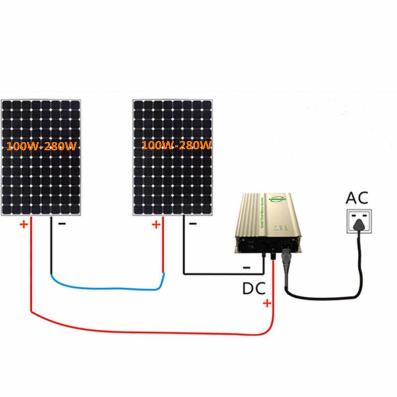 500 w grid tie inversor para pv input16v-28v dc para saída ac para 12 v bateria inversor de onda senoidal pura inversor solar 24 v bateria
