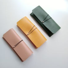 100% handcrafted simple design PU leather oversize sunglass soft pouch with velvet lining slip-in case spectacle box