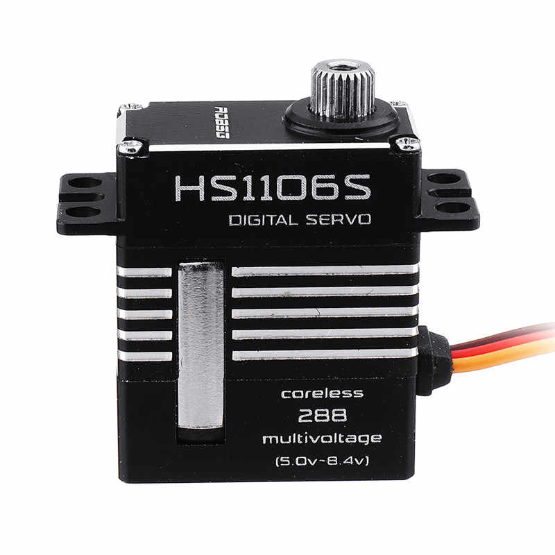 ROBSG HS1106S sans noyau engrenage métallique 7 KG Servo numérique pour 450 classe RC hélicoptère RC Drone quadrirotor pièces de rechange accessoires bricolage