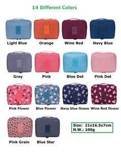Image 5 - WBBOOMING Hot Sale Cosmetic Storage Bag Travel Bag Makeup Organizer Skincare Storage Zipper Bag 100% Good Rating 14 Colors