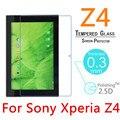 """Z4 9 H 0.3mm 2.5D Templado A Prueba de Explosiones de Cristal Templado Para Sony Xperia Z4 10.1 """"PC de la tableta de Pantalla de la Película Transparente Protege La Cubierta"""