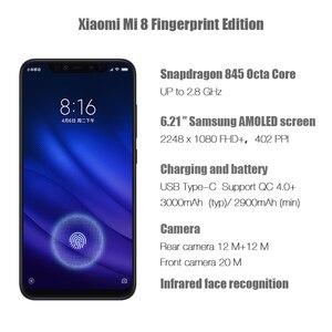 Image 2 - הגלובלי גרסת שיאו mi Mi 8 פרו 8GB 128GB מסך טביעת אצבע Snapdragon 845 אוקטה Core 6.21 Smartphone הכפול מצלמה QC4.0 3000mAh