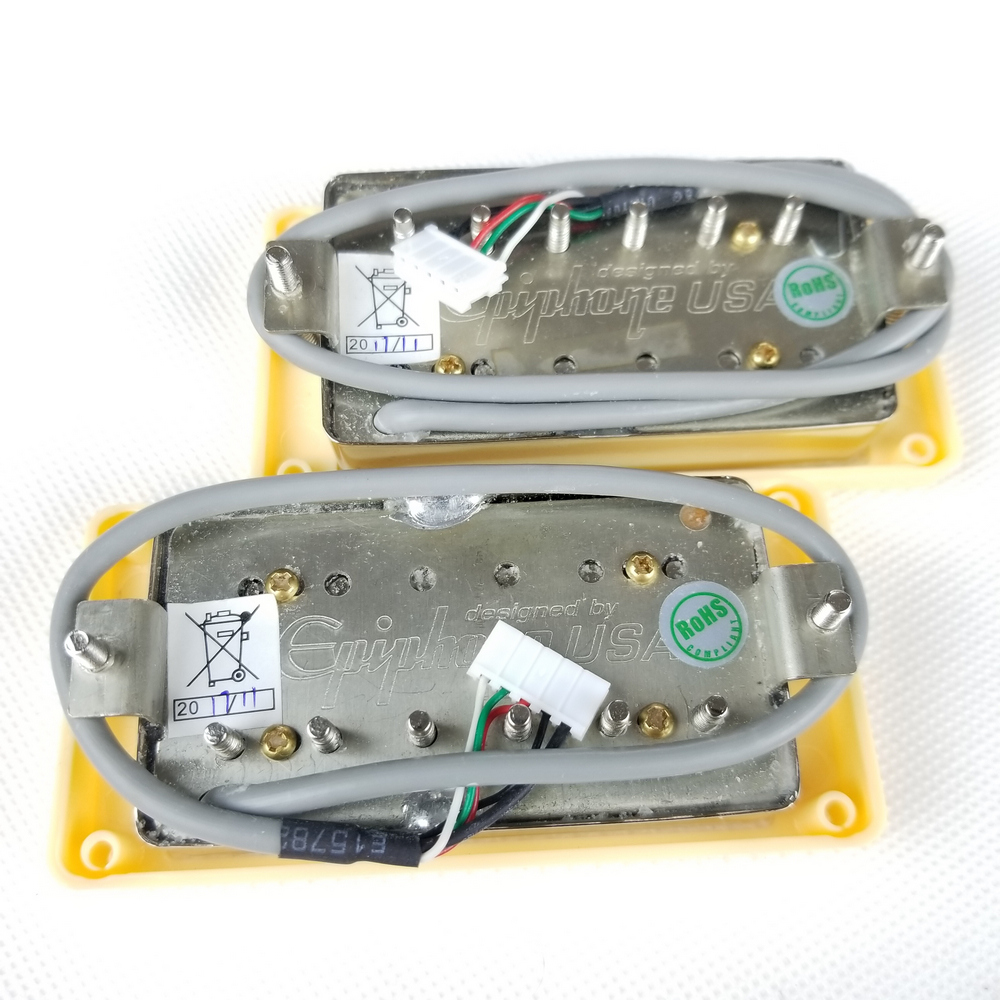 1 Set Chrome Lp Standard Probucker Alnico Electric Guitar Humbucker Epiphone Pro Wiring Harness Product