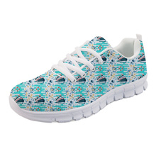 NOISYDESIGNS Mermaid Cruising Vacation Pattern Casual flat Shoes for Women Spring Summer Mesh Sneakers Woman Breathable Ladies