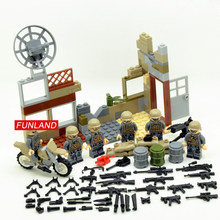 Modern military red sea action brickmania minifigs building bricks china army forces figures weapon motorcycle block toys(China)