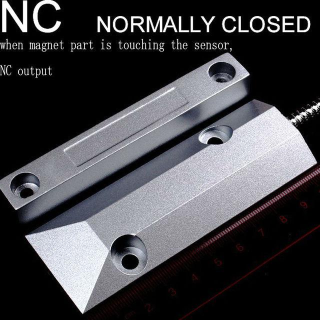 Przewodowy Metalu OC-55 Drzwi Rolet Drzwi Magnetyczna Wodoodporny Przełącznik Alarmu Czujnika do Systemu Alarmowego w Domu