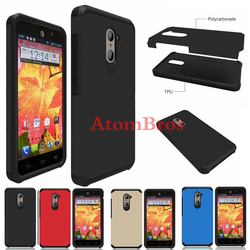For ZTE Grand X Max 2 /Max Duo 4G Zmax Pro/Kirk Z988 Imperial Max /Z963U Z962G Hybrid Shockproof Rubber Protective Case Cover