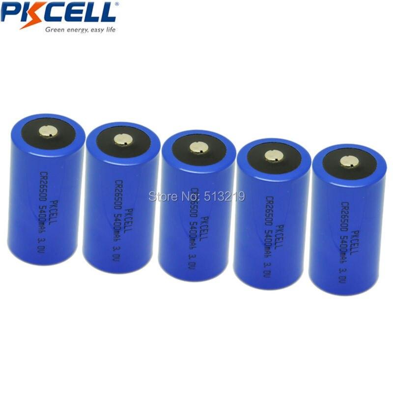 5 шт. c Батарея cr26500 26500 3 В 5400 мАч литий <font><b>Li</b></font>/mono2 Батареи