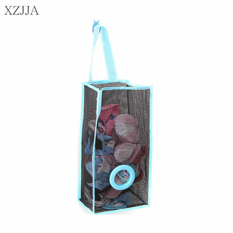 e0e1cbdd1be XZJJA Hanging PVC Mesh Storage Bag Dispenser Kitchen Accessories Reusable  Grocery Potatoes Garlic Organizer Garbage Bag