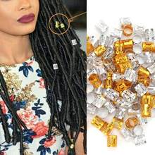 100Pcs Adjustable Dreadlocks Hair Braid Beads Rings Cuffs Hair Decoration Wig Accessories(China)