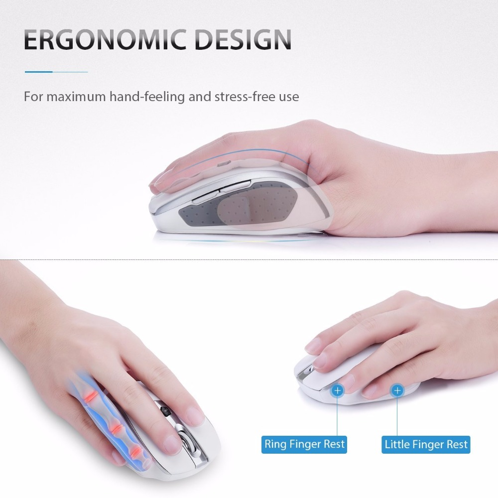 Image 3 - VicTsing 2.4G Wireless Portable Mobile Mouse Optical Mice with USB Receiver 5 Adjustable DPI Level 6 Buttons for  Notebook PC-in Mice from Computer & Office