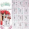 2015 NEW 50PCS/lot 3D TJ049-060 Manicure 3D sticker Manicure dedicated 3D bronzing Christmas decoration
