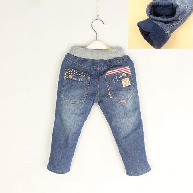 De alta Calidad de los Pantalones Vaqueros Del Invierno Niñas Espesar Caliente Denim Jeans Para Niños de Algodón Suave Pantalones Vaqueros Calientes de Invierno Niño Pantalones Largos