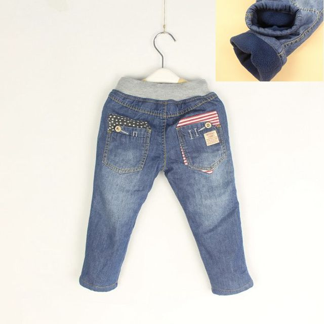 High Quality Winter Jeans Baby  Boys Girls Thicken  Warm Denim Jeans Kids Cotton Soft Warm Jeans Child Winter Long Pants