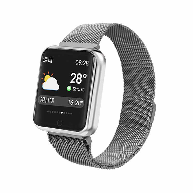แฟชั่นผู้ชายใหม่ Smartwatch ข้อความเตือนนาฬิกาสมาร์ทกันน้ำสมาร์ทนาฬิกา Heart Rate Tracker กีฬานาฬิกาสำหรับสตรี