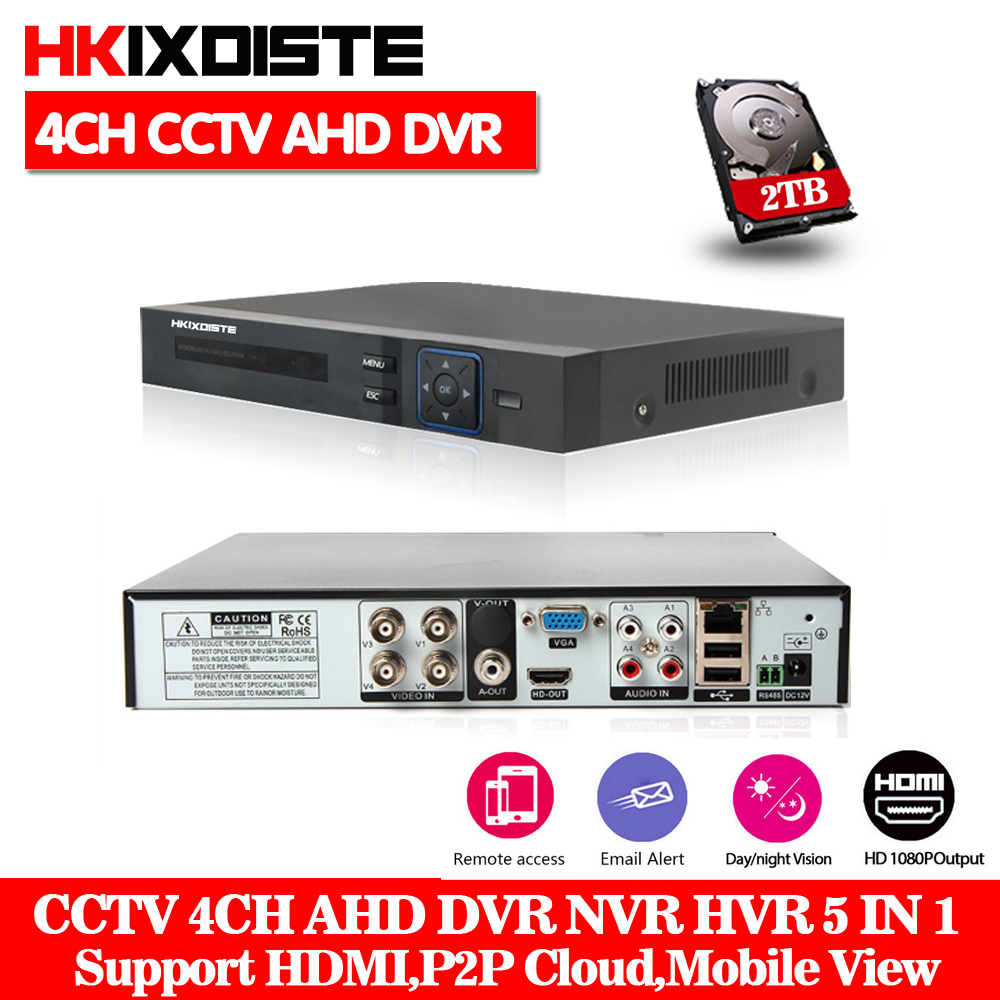 4Ch Full HD 1080P AHD-NH Real time 4 Channel CCTV 720P AHD DVR AHD-M Hybrid DVR NVR 5in1 Video Recorder For AHD&IP&Analog Camera ninivision ahd 4 channel 1080p hdmi 1080p 4ch hybrid ahd dvr hvr nvr onvif for security ip camera p2p function cctv dvr recorder