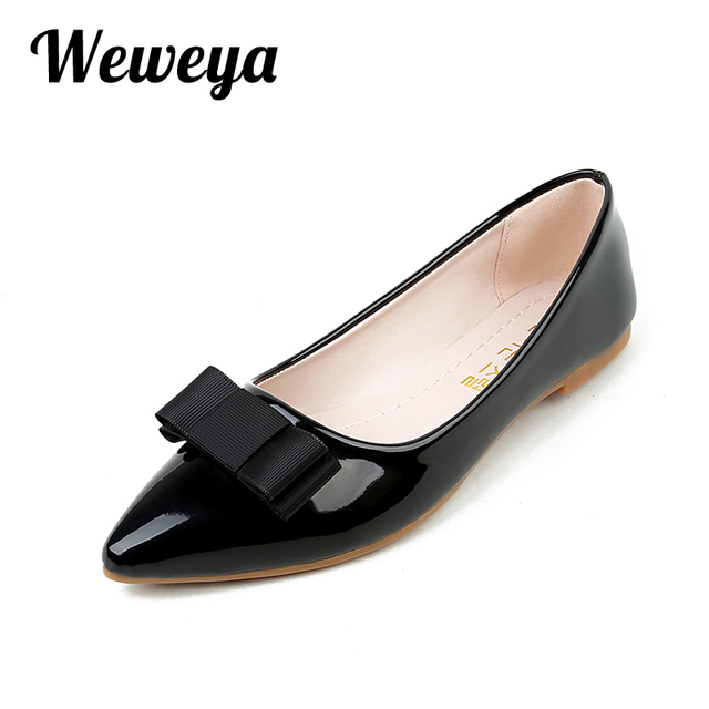 Women's Bows Slip On Point Toe Flats Shoes
