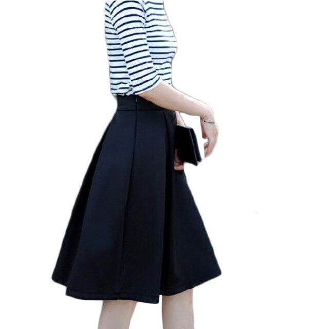 Mujeres oficina de trabajo de desgaste faldas plisadas a media pierna de  primavera 2016 alta cintura 7c1458b19d84
