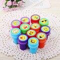 1PC Kids Cartoon Emoji Smile Face Stamps Children Stamp Inking Toy