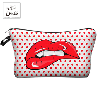 Who Cares Makeup Bags Women Cosmetic Bag With Multicolor Pattern 3D Printing neceser Cosmetics Pouchs For Travel make up bag
