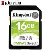 Cartão de memória original do sd de kingston 128 gb carato de memória 64 gb 32 gb classe 10 sdhc dslr cartão de armazenamento 16 gb para a câmera de sony nikon