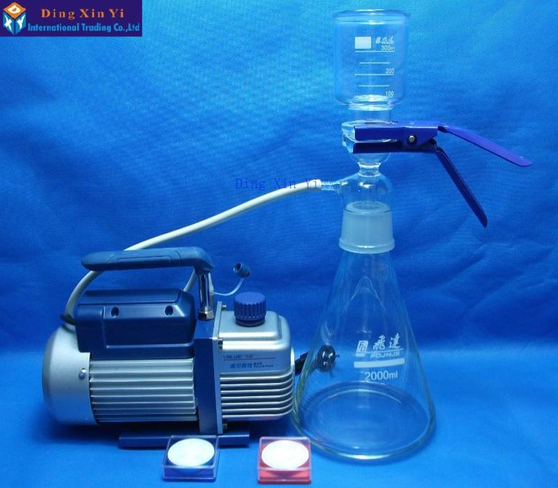 Filtre à membrane 2000 ml + pompe à vide + membrane filtrante, appareil de filtration sous vide Ultra économique