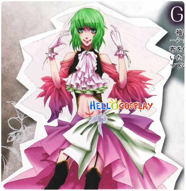 Vocaloid 2 Cosplay Gumi Costume Sandplay Singing Of The Dragon Song H008 image