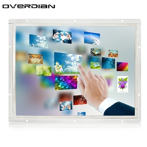 Image 1 - Industrial Control Lcd Monitor Vga/Hdmi/Usb Interface 12/12.1 inch High Resolution Metal Shell Open Frame Resistive Touchscreen