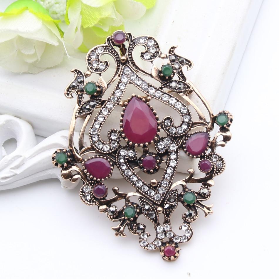 Етнічна турецька брошка для жінок - Модні прикраси - фото 4