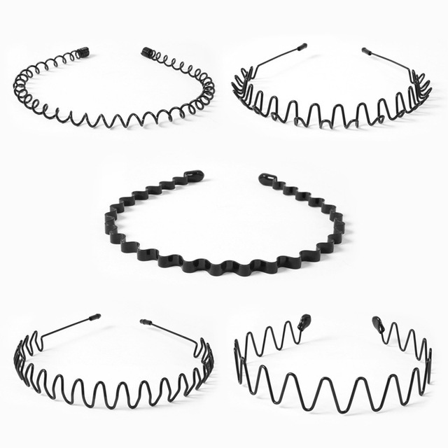 Fashion Black Basic Hairbands Hair Accessories for Women girls Wide Waves Spring
