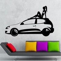 Car decalcomania del vinile hot sexy girl garage freddo decor wall stickers