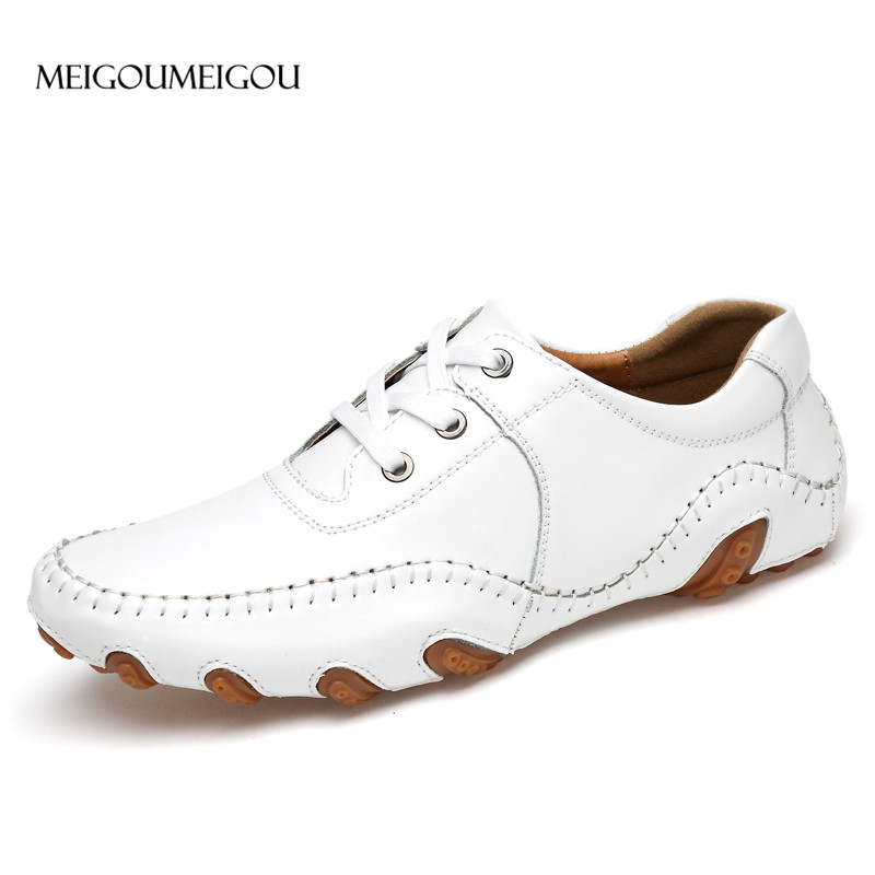 MEIGOUMEIGOU Octopus Leather Shoes Men High-quality Comfortable Men Loafer Spring & Autumn Non-slip Fashion Casual Sneakers
