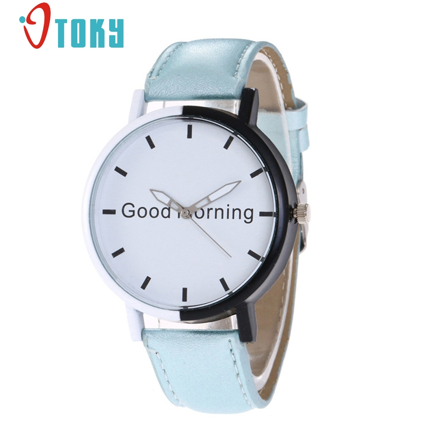 OTOKY Good Morning Female Wristwatch 2017 Fashion Women Clock Quartz Watch Girls Montre Femme Relogio Feminino #30 Gift 1pc